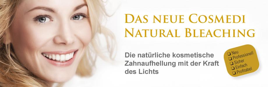 CMI Cosmedi Natural Bleaching. Die natürliche kosmetische Zahnaufhellung mit der Kraft des Lichts.